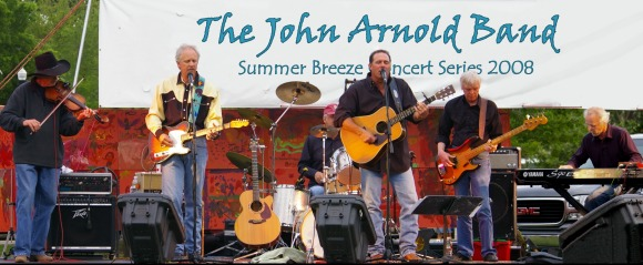 John Arnold Band onstage at the Summer Breeze concert series